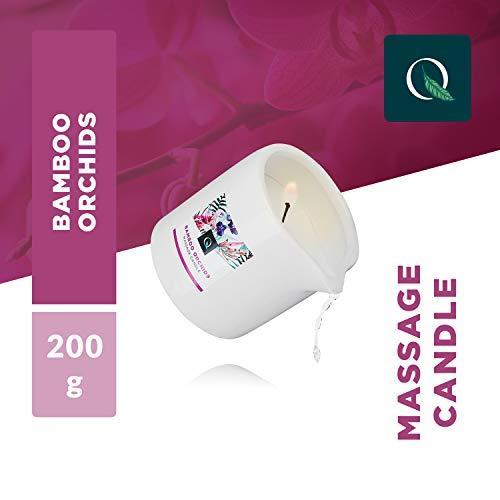 Exotiq Massagekerze Bambus Orchidee (200 gr - 7 oz) Für Entspannende Massagen mit Warmem und Weichem Massageöl - Perfekt für eine Heiße Massage - Relaxender Effekt, Hautfreundlich, Pflegend