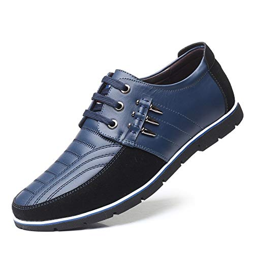 Herren Classic Honourable Oxfords Casual Oxford for Männer Freizeit Mode Sneaker Atmungsaktive Kleid Schuhe Schnüren Echtes Leder Runde Kappe Verschleißfeste Klassische Langlebige Schuhe Retro Tempera -