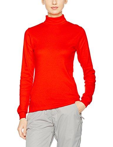 Trigema Pull col roulé à manches longues Sport/Ski pour femme orange vif
