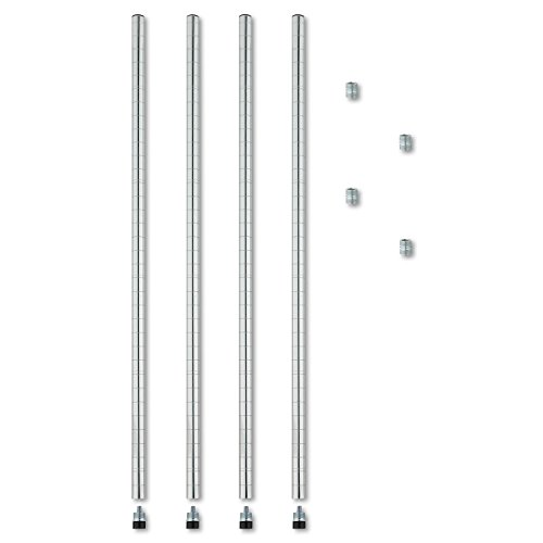 stackable-posts-for-wire-shelving-36-high-silver-4-pack