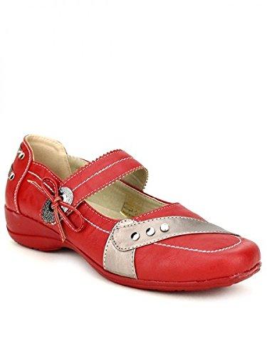 Cendriyon, Ballerine ultra Confort JESSY Chaussures Femme Rouge