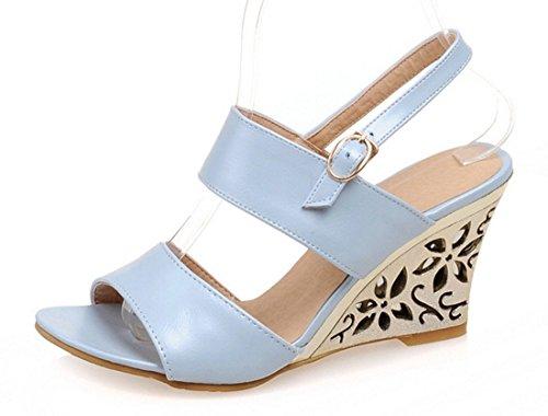 YE , Chaussures femme Noir, bleu