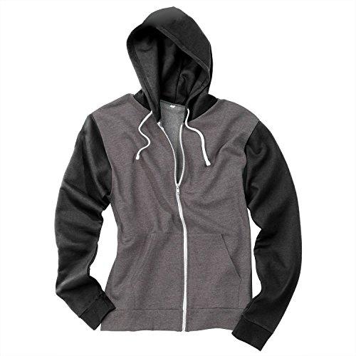 AWDis Hoods - Felpa con cappuccio - Uomo Charcoal Grey / Burgundy