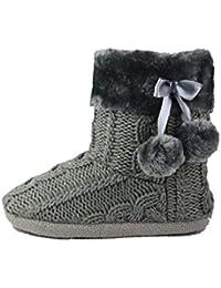 Zapatillas de estar por casa zapatos y - Pompones para zapatillas ...