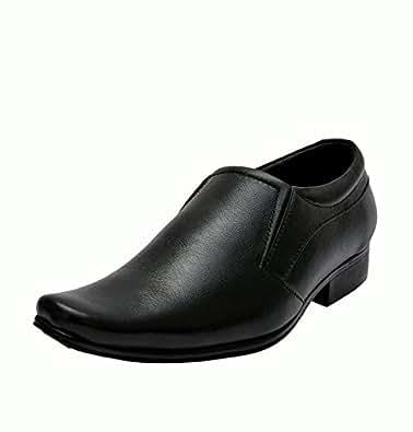 John Karsun Men's Black Leather Formal Shoes (S905) - 10 UK