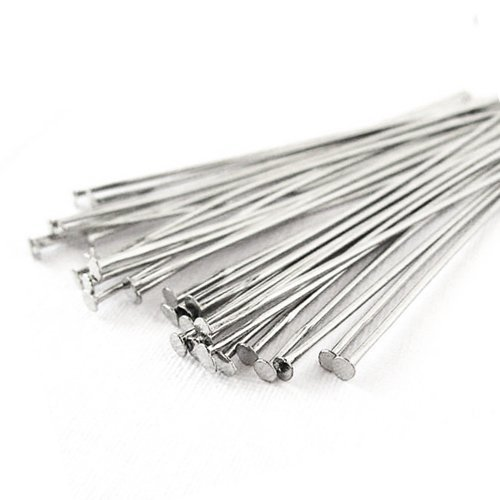 Pack-275-x-Silver-Plated-Iron-Nickel-Free-Strong-Head-Pins-40mm-x-07mm-HA02150