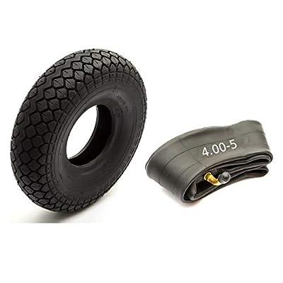 Tyre 4.00-5 Black Diamond Block Tread Fits Mobility Scooter 5 Inch Wheel Rim 4 Ply