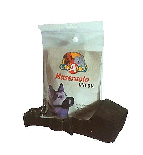 Museruola in nylon CaniAmici - Pratica museruola regolabile, per cani di tutte le taglie (Mis. 3)
