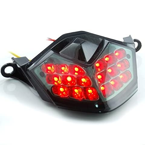 Motorcycle Racing 36 LED Integrated Lamps Running Brake Lights Turn Signal Rear Taillight Fit For KAWASAKI ZX-10R 2008 2009 2010 / ZX-6R 2009 2010/ Z 750 2007 2008 2009 / Z 1000 2007 2008 2009 2010