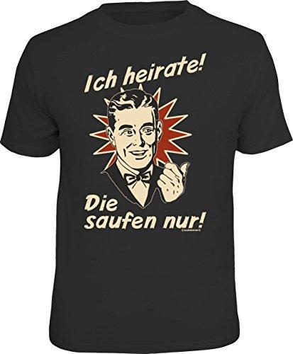 RAHMENLOS Original T-Shirt für den Bräutigam beim Junggesellenabschied: Ich heirate… Größe M,...