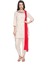 Kashish By Shoppers Stop Womens Embroidered Dhoti Kurta And Dupatta Set