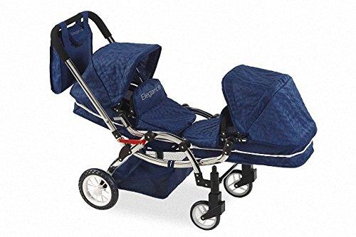 Carro Gemelos Elegance con bolso - Altura manillar: 77 cm - Medidas: 105 x 45 x 77 cm