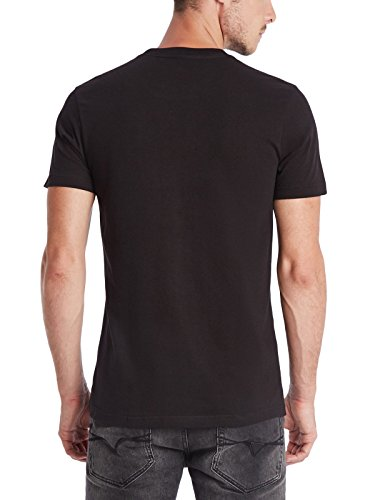 Guess G Factory Mens New York Logo Crew Tee Jet Black