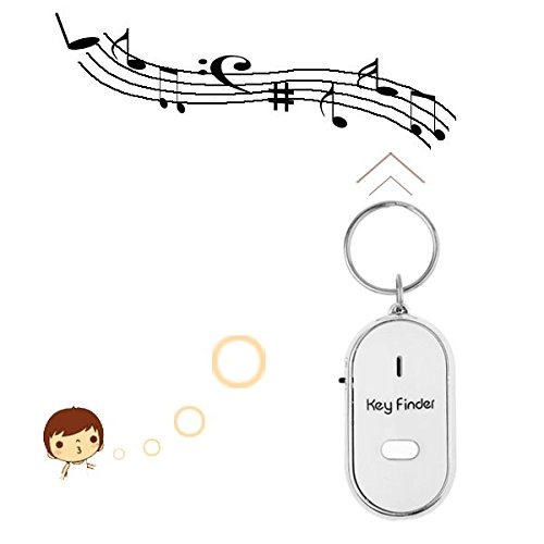 Okayji Whistle Controlled Key Finder with LED Light - Random Colour