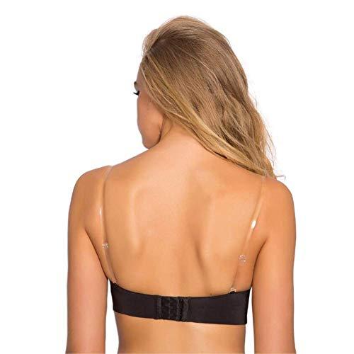 SUREMATE Unsichtbar klar BH Gurt rutschfest verstellbar Soft BH Strap 2Paar Transparent Schultergurt -