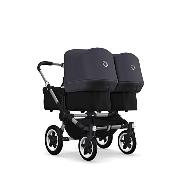 Bugaboo Donkey 2 Twin, 2 in 1 Double Pram and Double Pushchair for Twins, Steel Blue Bugaboo The name donkey says it all: it's the bugaboo pushchair with the most storage space. Compatible with the bugaboo donkey & donkey2 1