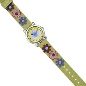 Trendy Kiddy Mädchen-Armbanduhr Analog grün KL113