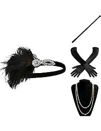 ArtiDeco 1920s Flapper Accesorios de los Años 20 Accessorios de Charlestón para Mujer Disfraz Gran Gatsby
