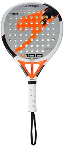 SLAZENGER V100 PRO TEAM - PALA DE PADEL  COLOR BLANCO / GRIS / NARANJA  38 MM