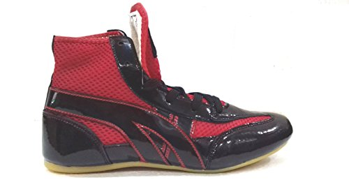 Rxn Kabaddi Shoes Unisex Size-9 (Black/Red)