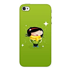 Special Laughing Cute Girl Print Back Case Cover for iPhone 4 4s