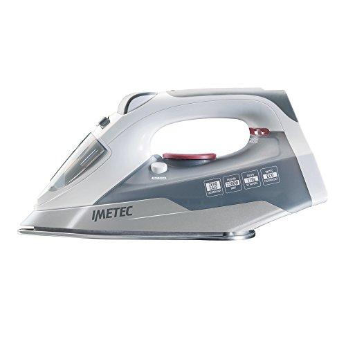 IMETEC 9004 Zerocalc Technology Pro 2200 Plancha de Vapor, W, Acero Inoxidable, Blanco/Gris