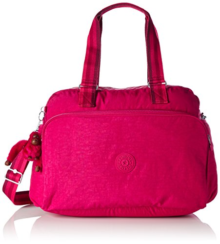 Kipling - JULY BAG - Medium Travel Tote - Cherry Pink C - (Pink)