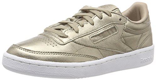 Reebok Damen Club C 85 Melted Metals Sneaker, Gold, 38.5 EU -