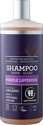 5. Urtekram Purple Lavender - Champú sin siliconas para pelo normal - seco