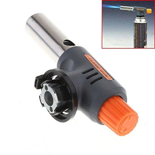 anizun (TM) hochwertiges Tragbares Schweißen Gas Torch Flame gun Elektronische Zündung Feuerzeug Brenner hohen und niedrigen für Camping BBQ und Backen (Gun Gas)