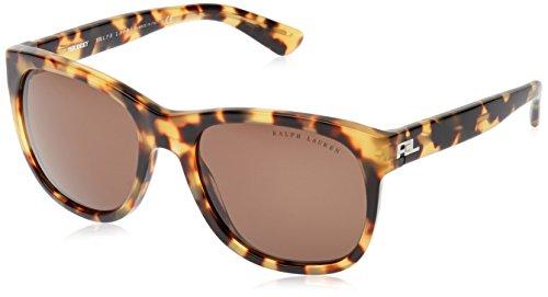 Ralph lauren 0rl8141043g, occhiali da sole donna, marrone (spotty havana/brown), 56