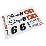 Stickers motif sTAGE6 pour surfaces sombres-blanc