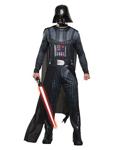 r Herrenkostüm mit Maske Standard (Darth Vader Maske Kostüm Aus)