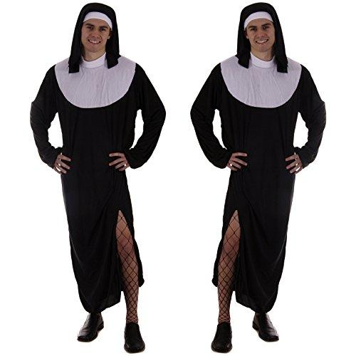 Spassprofi 2 mal Kostüm Nonne für Männer Größe 50/52 Männerballett Nonnenkostüm (Nonne Kostüm Für Männer)