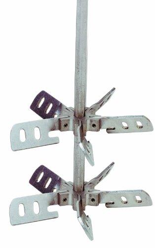 Bon 15-185 - Mezclador de mortero (acero inoxidable, doble hélice, 91,4 cm)