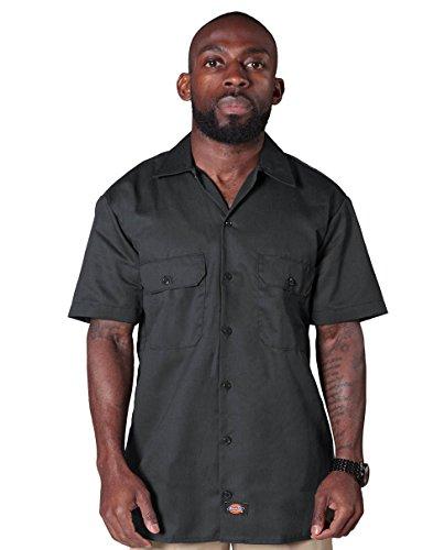 Dickies Herren Kurzarmhemd Work - Grau Für ihn Männer Freizeithemden Shirt DICKIES1574CH-L