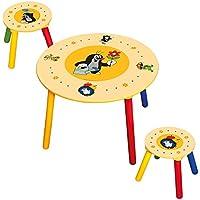 Preisvergleich für BINO 83410 - Kindertisch mit zwei Hocker