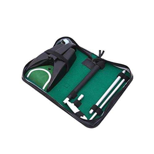 Lightahead Komplettes Executive Indoor Golf Putter Cup Kit mit Auto Ball Return Funktion für Golf-Übungen Indoor Outdoor Hard Büro