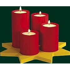 Montañas del mineral de la decoración el 12cm de la Navidad de la luz del té de la vela de la guirnalda del advenimiento NUEVAS