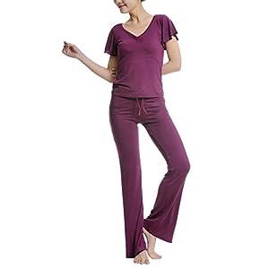 Sidiou Group Art und Weisefreizeit-Yogakleidung modales dünnes Sportswear-Yogaklage-Tanzsportklage Kurzhülse Yogakleidung