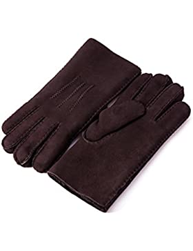 YISEVEN Men Merino Rugged Sheepskin Shearling Guantes de cuero