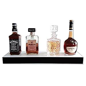 home bar regal beleuchtet led liqueur flasche regal 1 f cher mit organizer baumarkt. Black Bedroom Furniture Sets. Home Design Ideas