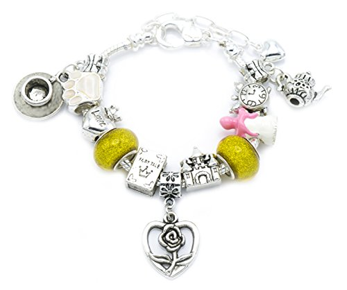 'Beauty and the Beast' Children's Charm Bracelet with Gift Box Girls Jewellery