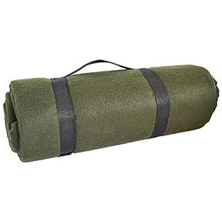 Waterproof US Army Style Outdoor Fleece Blanket Picnic Rug Blanket Mat Olive