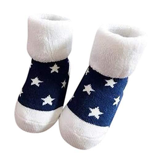 Mitlfuny Unisex Babyschuhe Mädchen Jungen Anti-Slip Socken Slipper Stiefel,Kinder Säuglingskleinkind Baby Jungen Mädchen Cartoon Tiere Rutschfeste gestrickte warme Socken
