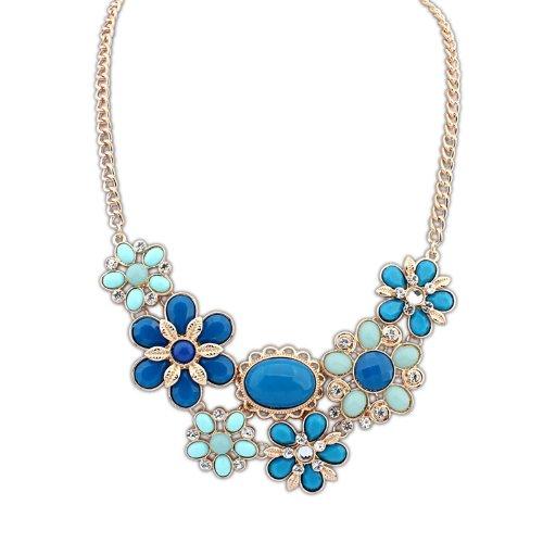 Yazilind Graceful Frauen Pullover Kette Halskette Blumen Anhänger Halskette