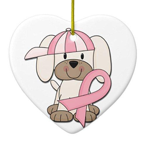 Crafts bewusst sein Brustkrebs Ornament Herz Weihnachten Weihnachtsbaumschmuck Jahrestag Geschenk ()