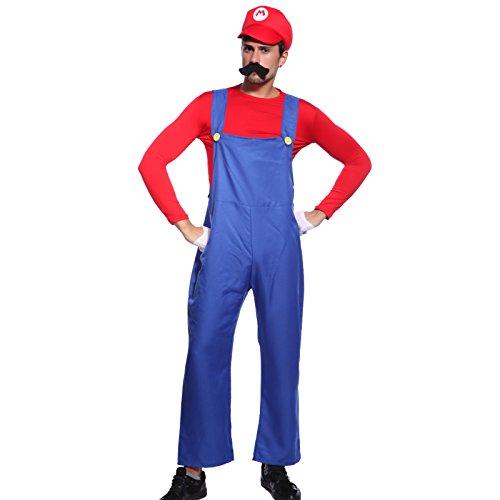 Super Mario Bros. Mario in Gr.L Klempner Herren -