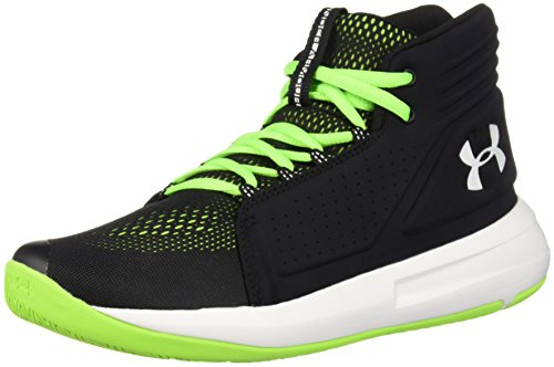 Under Armour Jungen UA BGS Torch Mid Basketballschuhe, Schwarz (Black/Hyper Green/White), 40 EU