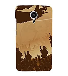 Fuson Designer Back Case Cover for Meizu MX5 (Army Fighting Army Soldiers In War Fighter Jets)